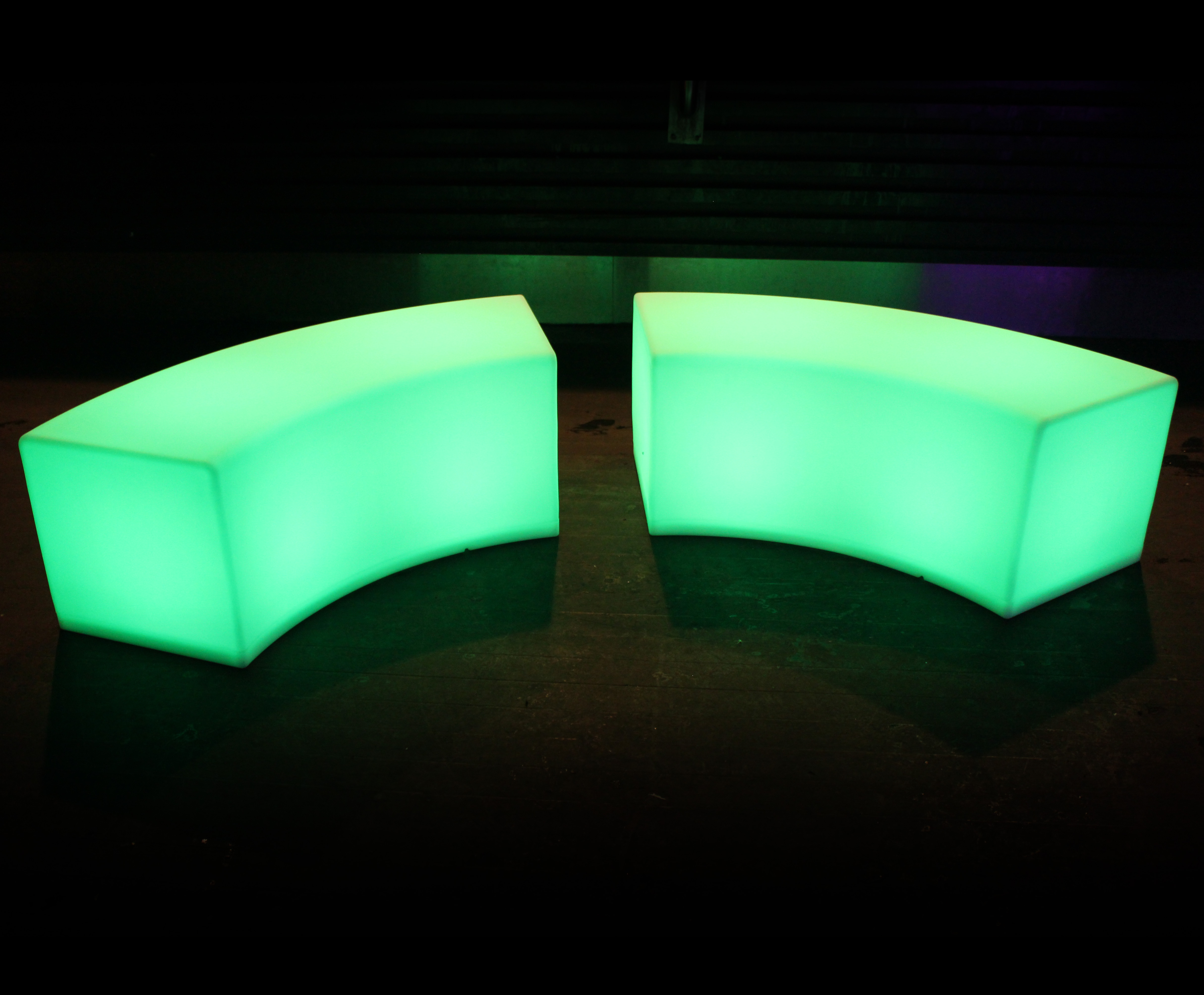 Glow Furniture Glow Bench Hire Sydney Light Up Curved Snake Bench Hire In Sydney