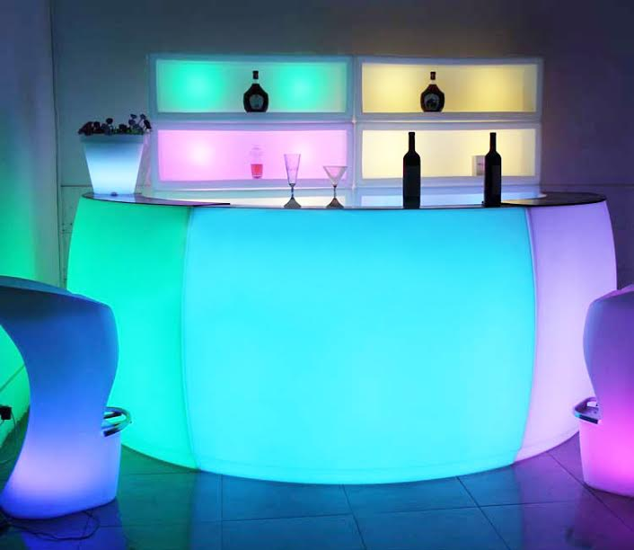 Circular Glow Bar Glow Furniture Hire