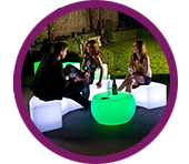 glow bench hire