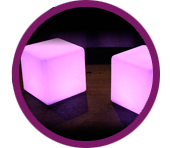 hire glow cubes