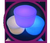 Glow Round Ottoman<
